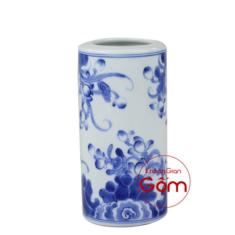 ống hương men xanh vẽ kỹ