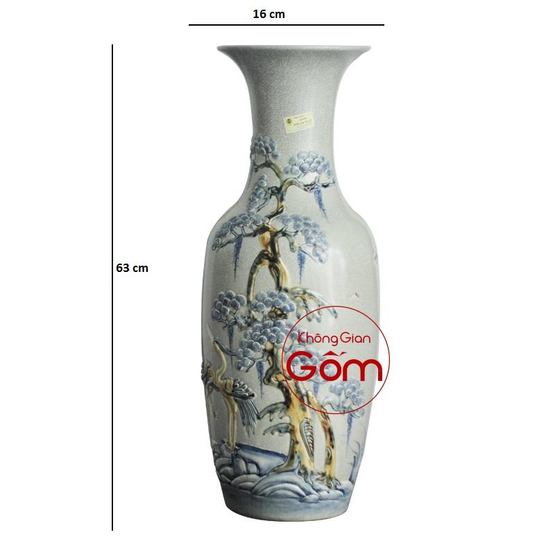 lo hoa thờ men rạn Tùng Hạc