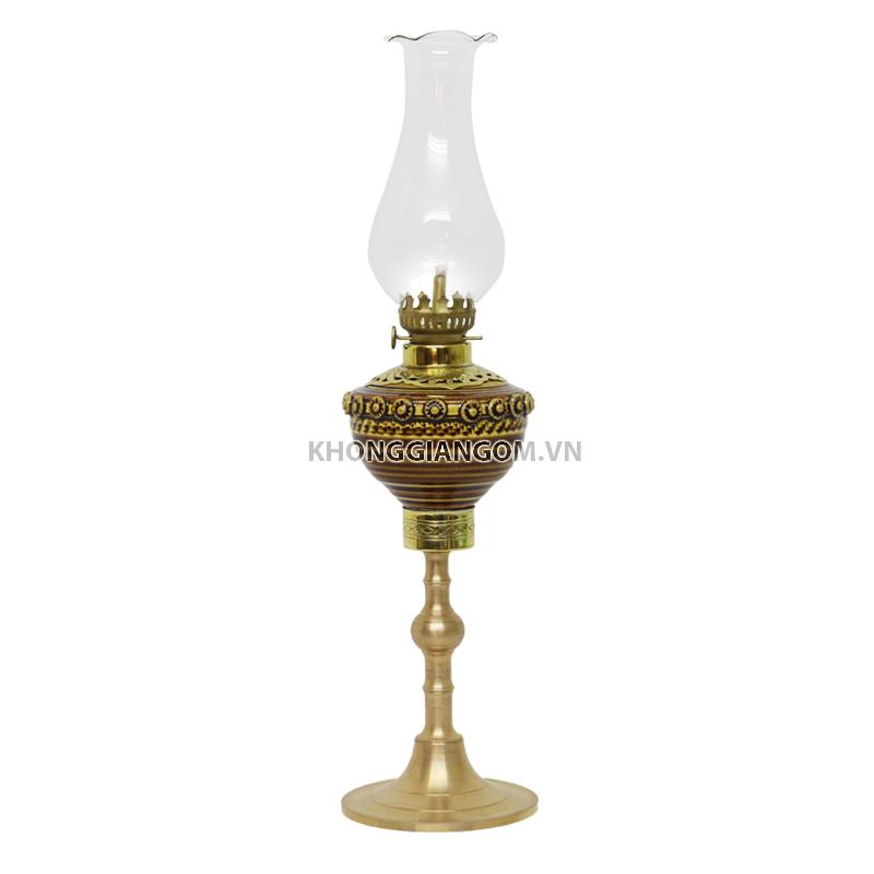 Đèn dầu thờ khắc nổi
