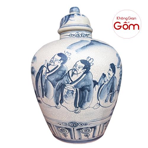 Vò đựng rượu sứ Bát Tràng - Vò gốm sứ phong thủy