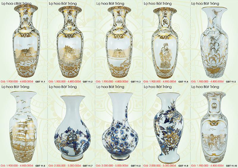 7 mẫu bình hoa đẹp hợp phong thủy cho người mệnh Kim