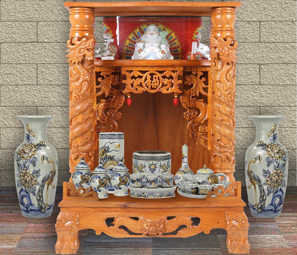 Mẫu bàn thờ Thần Tài đẹp được yêu thích nhất hiện nay