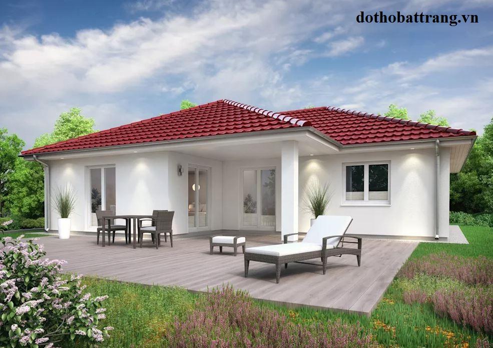 mẫu nhà trệt mặt tiền đẹp như villa 3