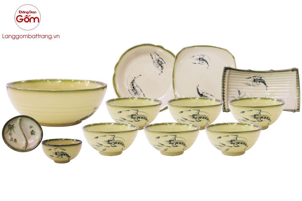 Bát đĩa gốm sứ Bát Tràng an toàn tuyệt đối khi sử dụng
