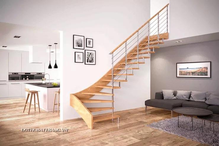 10 mẫu cầu thang đẹp bằng gỗ và thép hợp lý cho nhà nhỏ