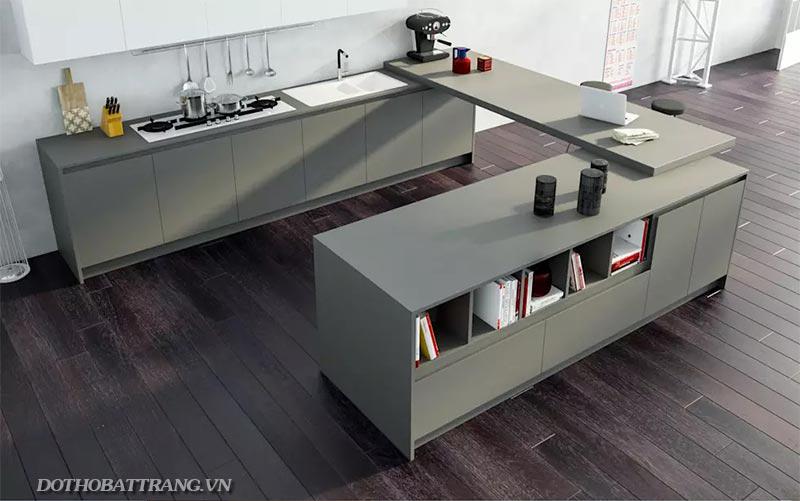 Chọn vật liệu nào cho bề mặt bếp vừa đẹp vừa sạch?