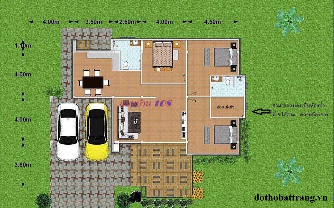 gợi ý 2 mẫu nhà 1 tầng đẹp hiện đại 1