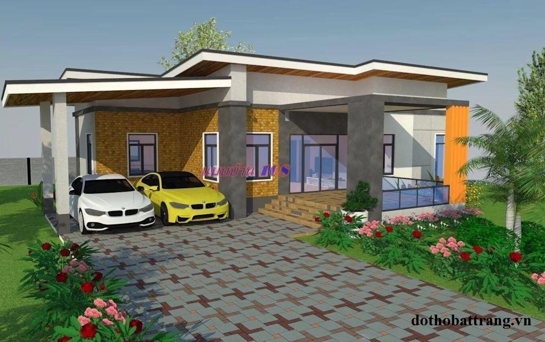 gợi ý 2 mẫu nhà 1 tầng đẹp hiện đại