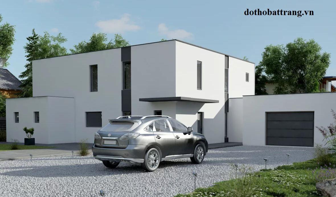 xây nhà mái bằng đẹp và hợp phong thủy 2