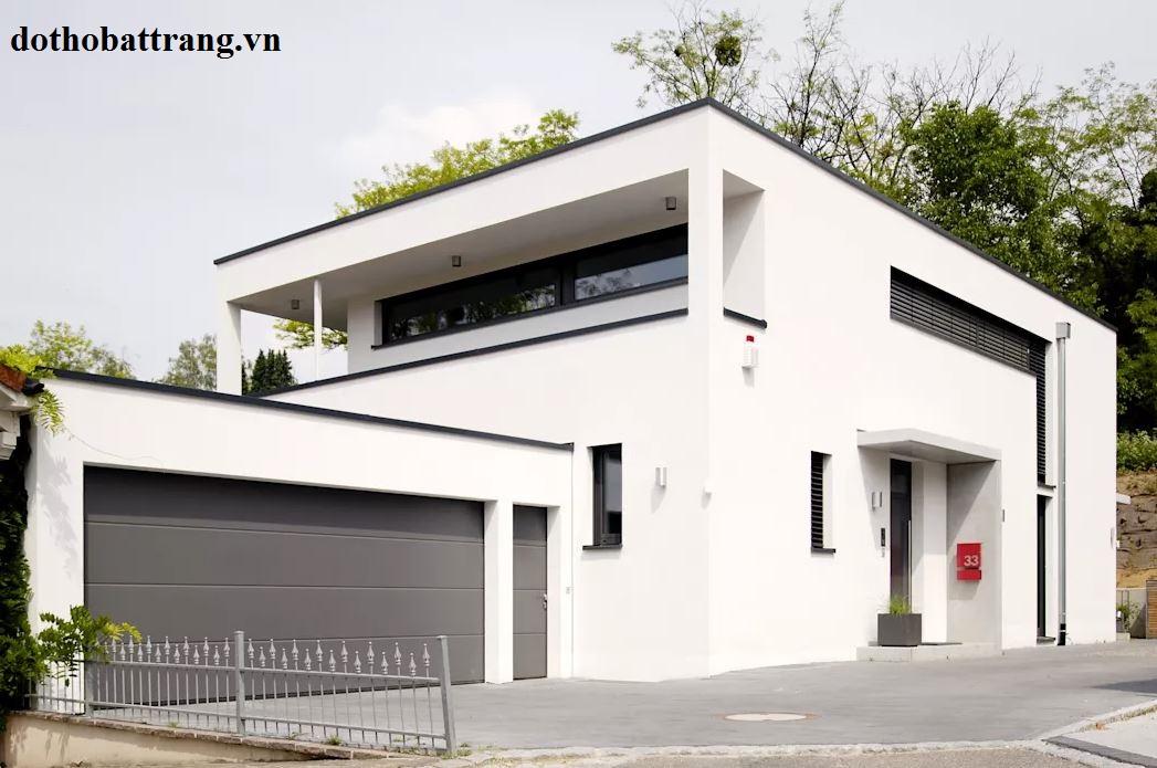 xây nhà mái bằng đẹp và hợp phong thủy