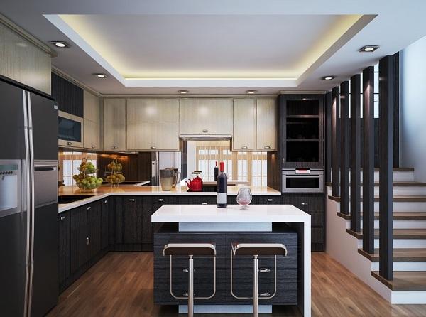 Mách nhỏ cách chọn vật liệu cho không gian nhà bếp
