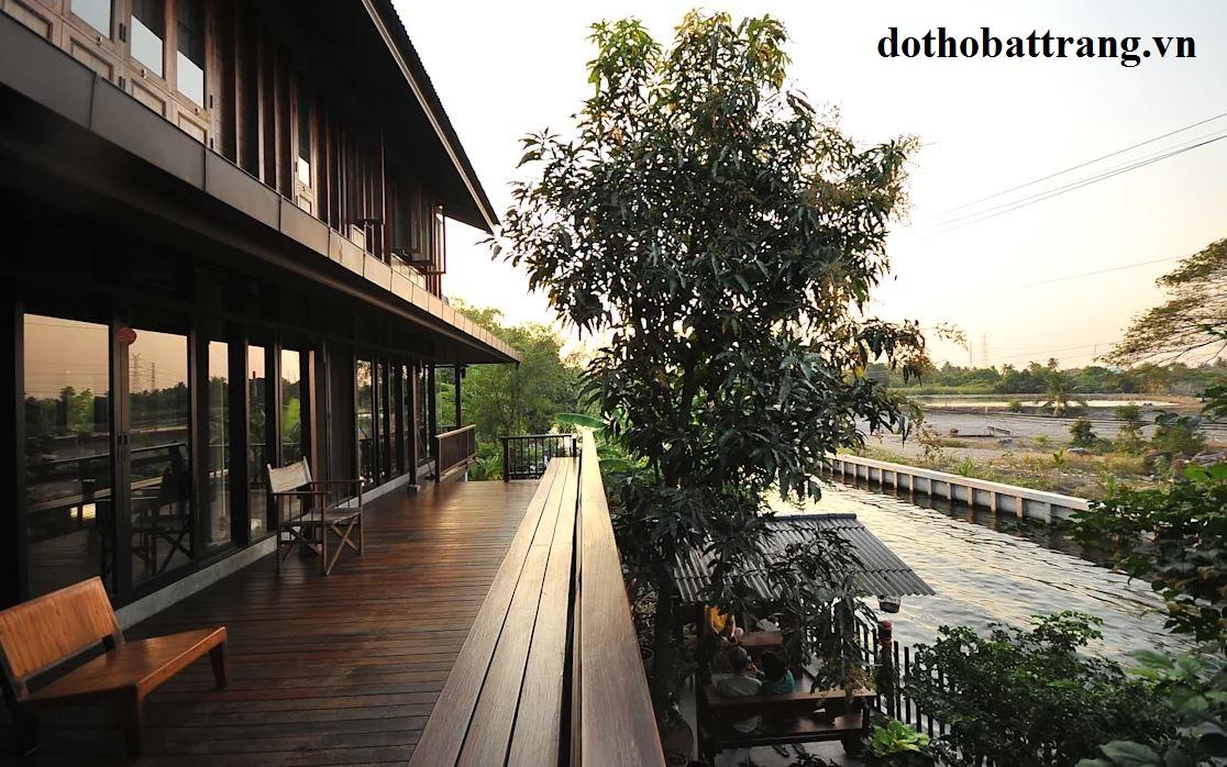 nhà vườn ven sông