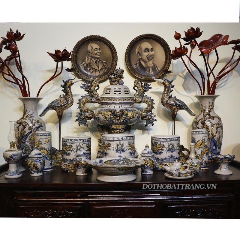 đồ thờ gốm sứ bát tràng nhà bếp