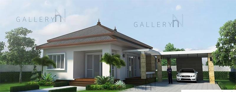 Thiết kế nhà trệt kết hợp resort tuyệt đẹp 200m2 chỉ 3 tỷ