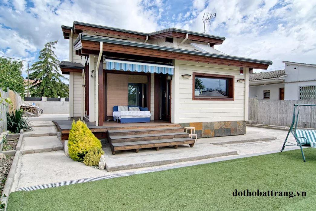 Thiết kế nhà vườn bằng gỗ đẹp