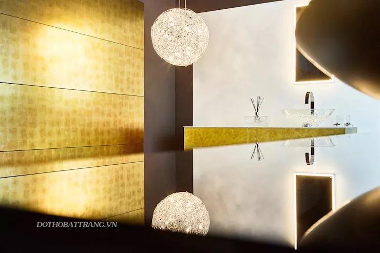 Trang trí nội thất sang trọng và tinh tế với 10 ý tưởng dát vàng