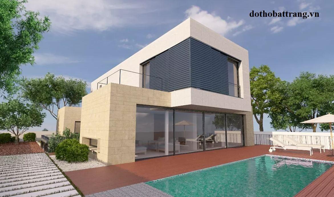 thiết kế nhà vườn 2 tầng cực bền và đẹp
