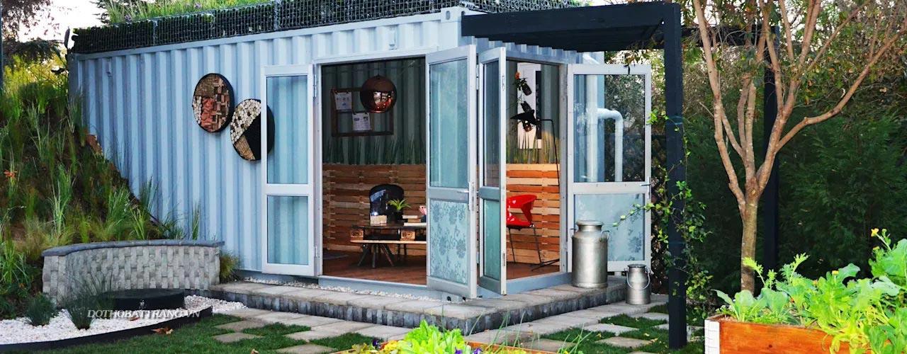 Xây nhà vườn container đẹp độc đáo, chắc chắn bạn chưa thấy qua