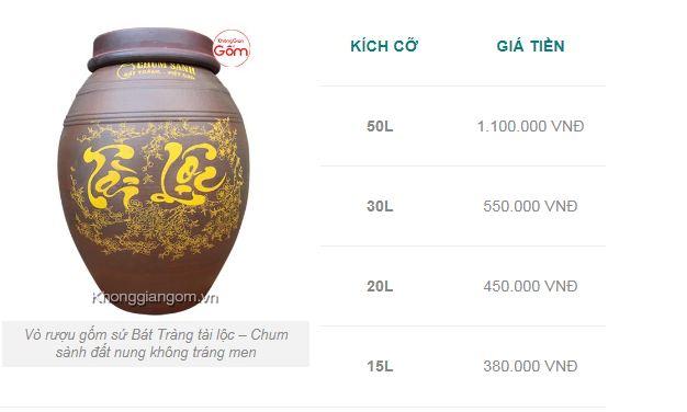 bình ngâm rượu pha lê tại quận Bình Tân 4