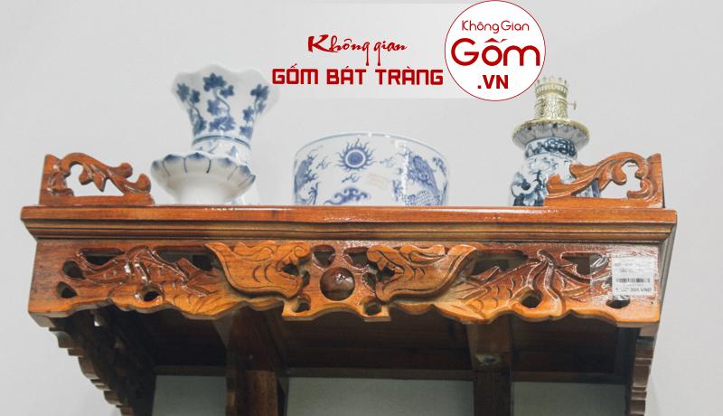 Tổng hợp những mẫu bàn thờ treo tường gỗ mít tại Hà Nội