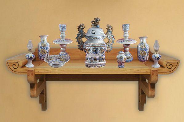 Top 10 mẫu bàn thờ treo tường đẹp giá rẻ