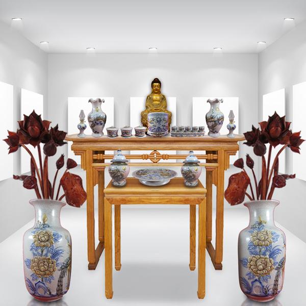 Bàn thờ Phật gỗ hương