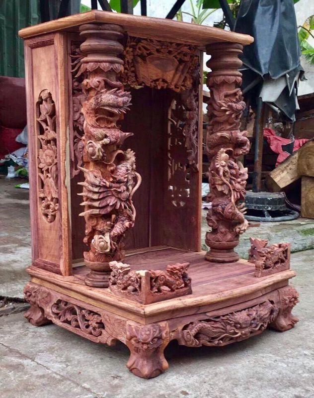 Bàn thờ thần tài gỗ cẩm lai mua ở đâu ? giá bán bao nhiêu tiền ?