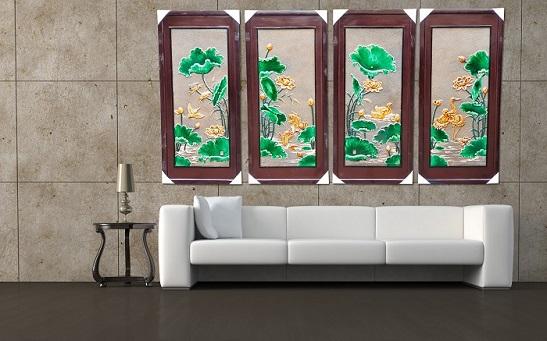 treo treo tường đẹp, tranh phong thủy treo tường phòng khách