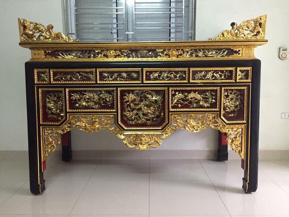 Tủ thờ sơn son thếp vàng mua ở đâu ? giá bán bao nhiêu tiền ?