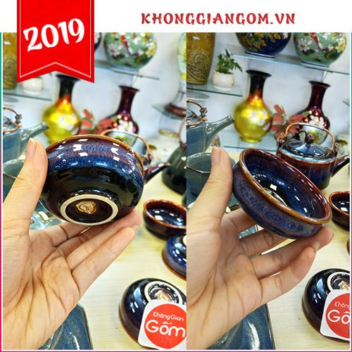 Bộ ấm trà men ngọc cao cấp Bát Tràng - Quà tặng năm 2019 đầy giá trị