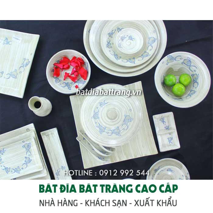 Địa chỉ bán đĩa sứ đẹp, bát đĩa sứ Bát Tràng tphcm - hà nội