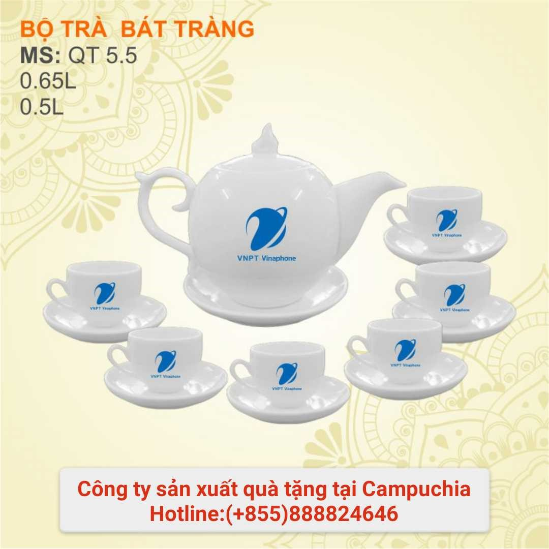 Bộ ấm chén trà in logo