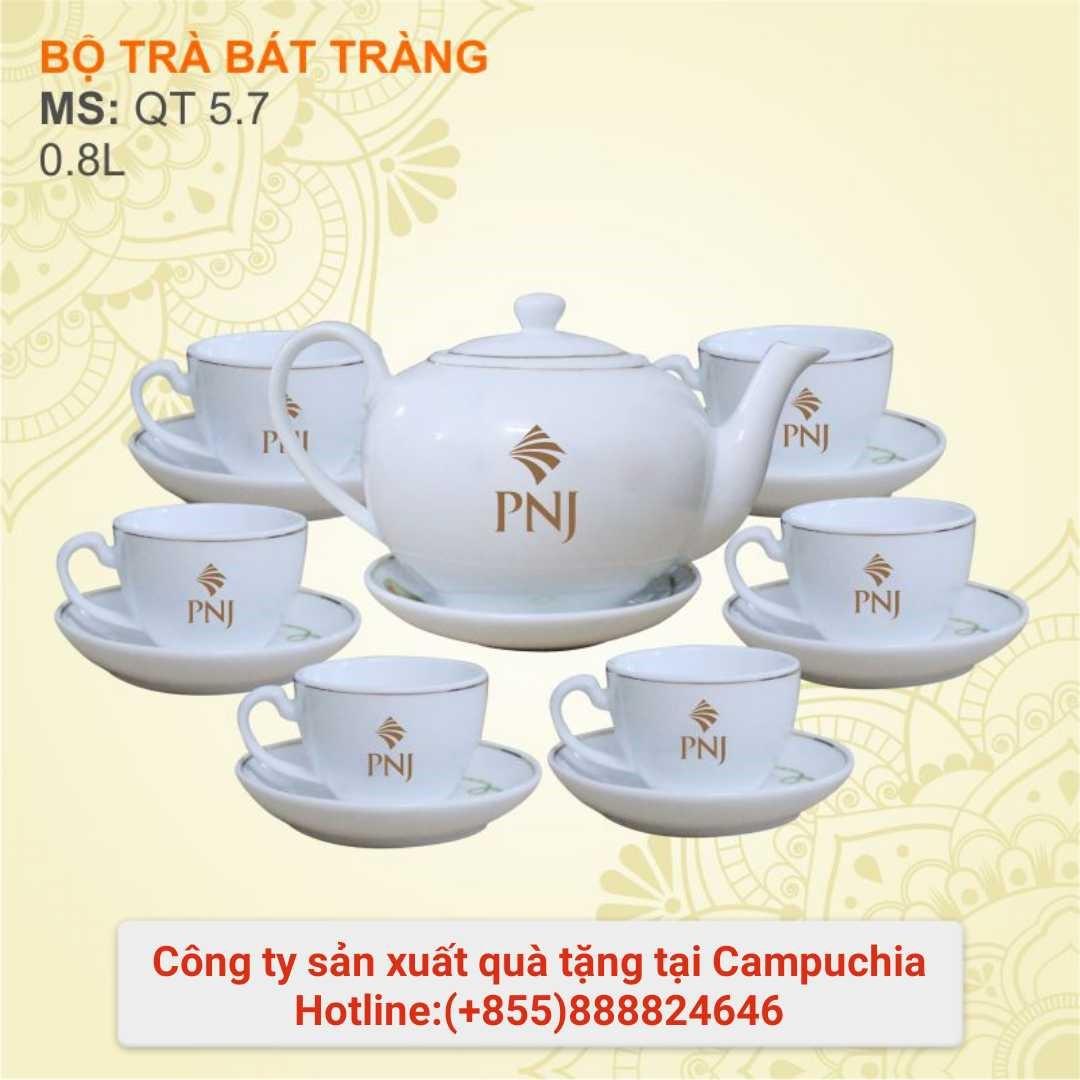 Bộ ấm trà sứ trắng